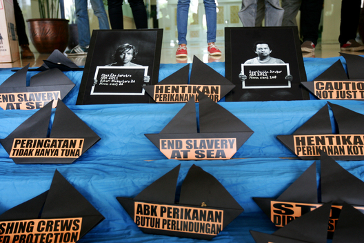Slavery at Sea Protest in Jakarta (Photos & Video)