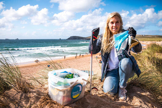 Beach Guardian Clean-up Activity in Cornwall