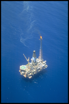 Goodwin A oil platform. Timor sea