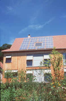 Solar Panels on House in Germany