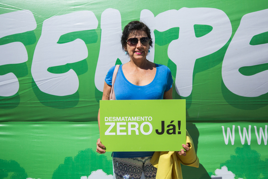 Local Activist at Protest against Termination of the Renca Reserve in Brazil