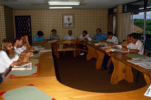 Meeting with Greenpeace and church reps, Papeete