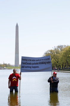 """Reject & Protect"" at Lincoln Memorial in Washington D.C."