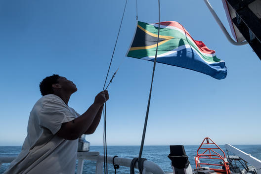 Arctic Sunrise Arrives in Cape Town, South Africa