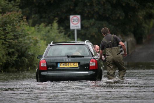 Flooding in Oxfordshire, UK