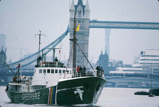 Rainbow Warrior in London
