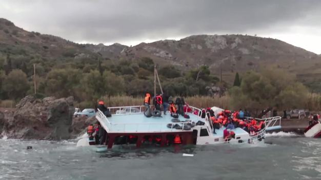 Newborn Baby Saved from a Capsized Boat in the Aegean Sea - B-Roll