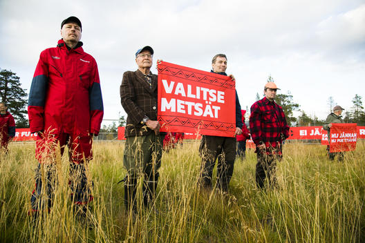 Demonstration against Industrial Exploitation of the Great Northern Forest in Finland