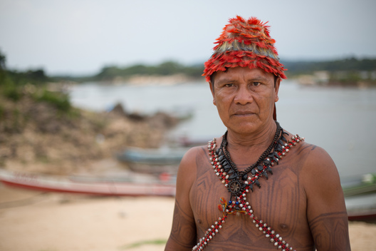 Portrait of Juarez Saw Munduruku in the Amazon
