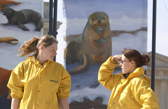 Action against Canadian Seal Hunt in Berlin