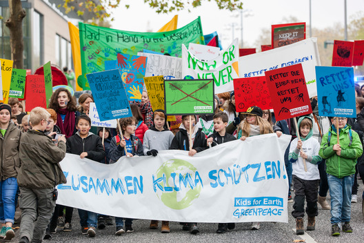 Kids for Earth Demonstrate at COP23 in Bonn
