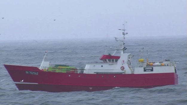 French-Spanish Gillnet Ship in North Atlantic