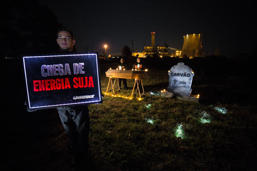 Funeral for Coal in Candiota, Rio Grande do Sul State, Brazil
