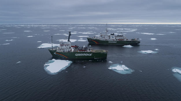 MY Arctic Sunrise & MY Esperanza in the Arctic