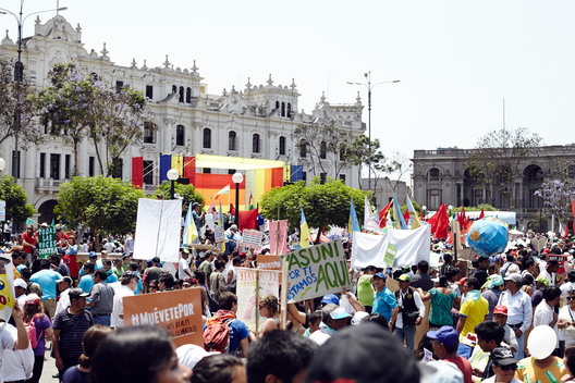 People´s Climate March at COP20 Summit in Lima