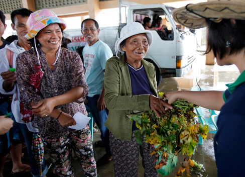 Seeds Distribution for Typhoon Affected Farmers in The Philippines