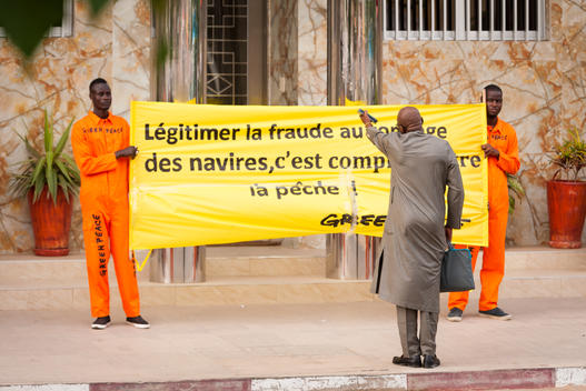 Protest at ANAM against Tonnage Fraud in Senegal