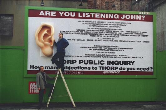 Anti-Thorp Billboard Action in London