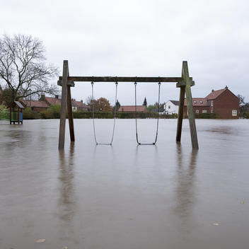 Flooding in Fishlake Village, South Yorkshire