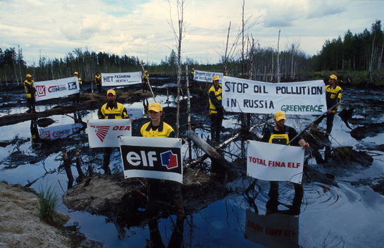 Action against ELF Oil Spill in Siberia