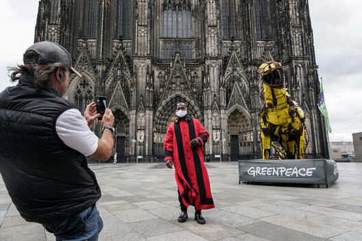 Activists Protest against Shell in Cologne
