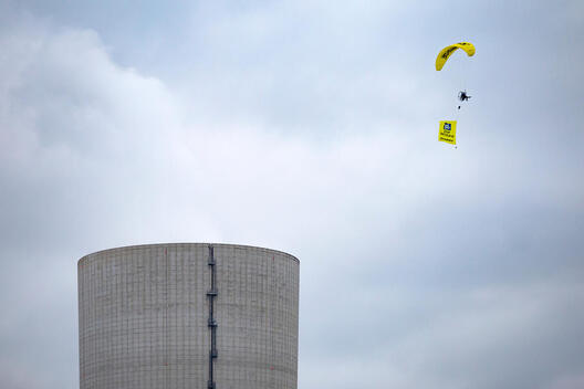 Flying Protest against Power Plant Datteln 4 in Germany