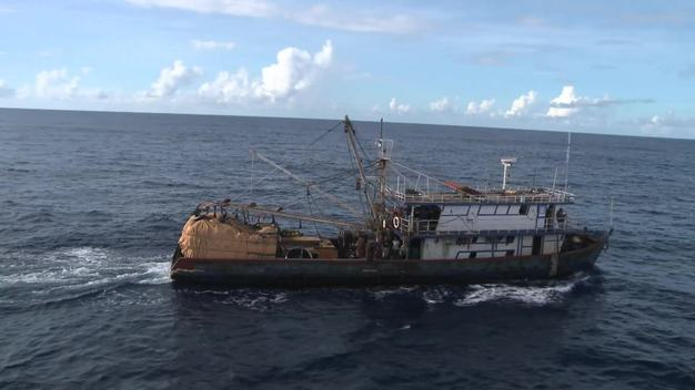 Illegal Purse Seine Fishing Vessel