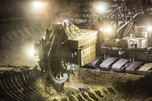 Lignite Surface Mining at Hambach Coal Mine in Germany