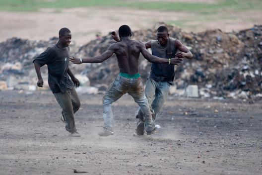 Playing Football in Ghana