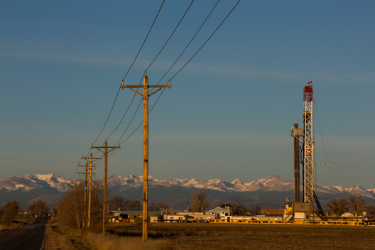 Hydraulic Fracturing Drilling Tower in Colorado