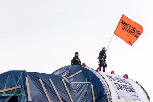 "Activists Occupy Kinder Morgan's ""Monster Drill"" in Canada"