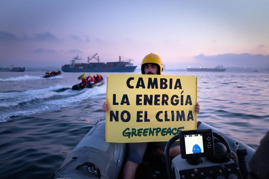 Action at Los Barrios Coal-fired Power Station in Spain