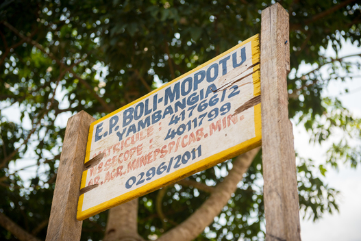 Primary School Sign in the DRC