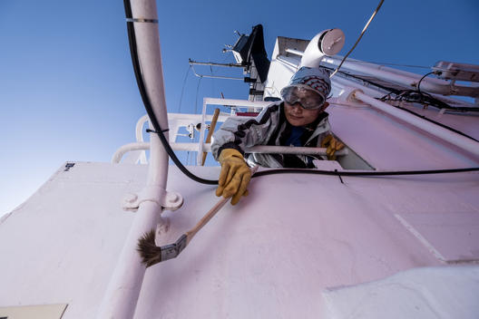 Life Onboard the MY Arctic Sunrise in the Atlantic Ocean