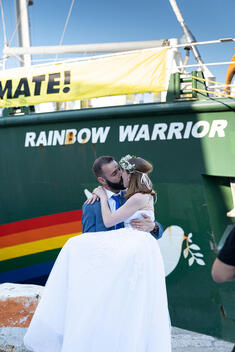 Rainbow Warrior United for Climate Tour: Open Boat in Constanta, Romania