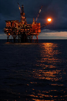 Cormorant Oil Field in the North Sea