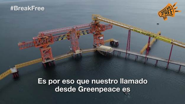 Break Free Activity at Invierno Coal Mine in Chile - Web Video (Spanish Version)