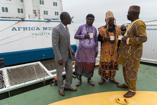 Solutions Day onboard the Esperanza in Douala, Cameroon