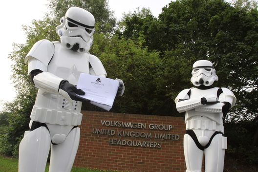Greenpeace Stormtroopers at VW HQ Milton Keynes