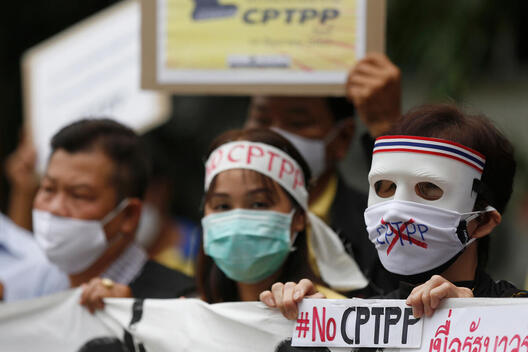 NO CPTPP Demonstration in Bangkok