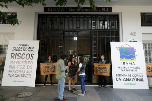 Protest at Ibama's Office in Rio de Janeiro against Oil Drilling in the Amazon Reef