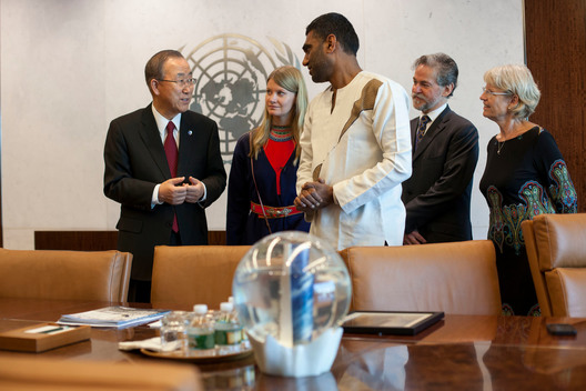 Ban Ki-moon Receives Greenpeace Delegation in New York