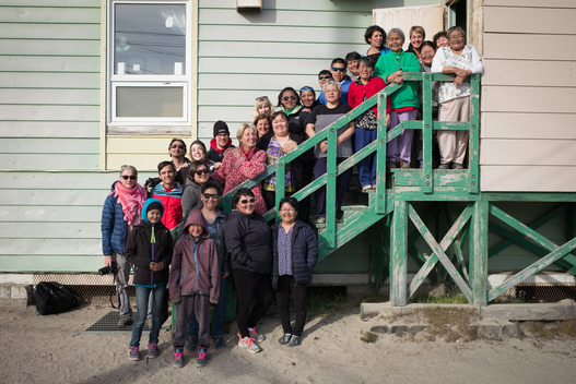 Greenpeace Staff and Local Residents in Clyde River