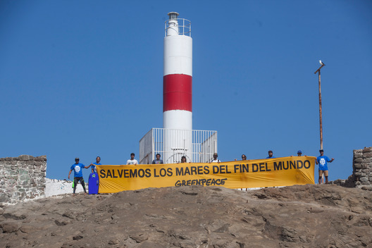 Lighthouse Action in Arica for the Protection of Patagonian Sea