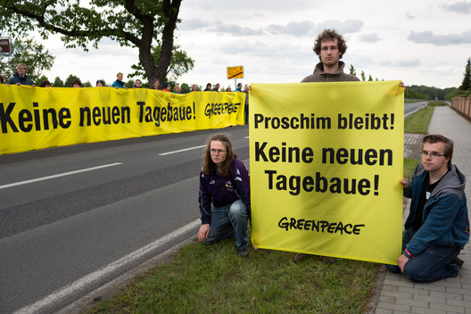 Protest Against Lignite Open Pit Mining in Germany