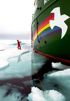 Arctic Sunrise on Ice Floe