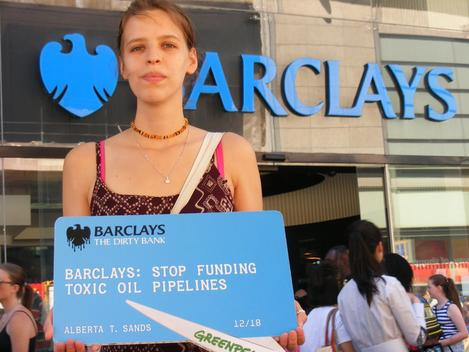 Volunteers in Manchester Ask Barclays Bank Not to Fund Oil Pipelines