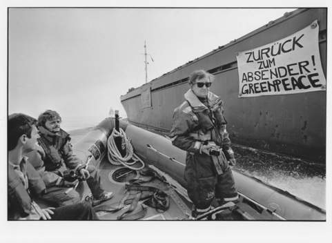 Greenpeace Examining the Toxic Cargo of Waste Ship Lying off the German Coast