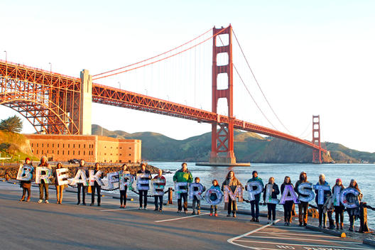 Earth Day Break Free from Plastics Action in San Francisco