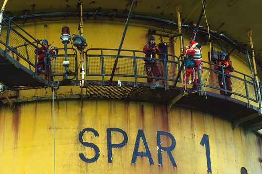 Brent Spar First Occupation in the North Sea